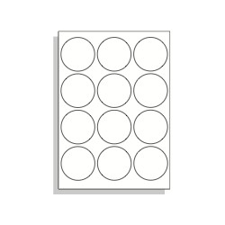 Samolepící etikety A4 63,5 mm kruh