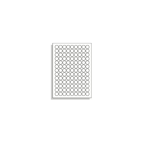 Samolepící etikety 19 mm kruh A4