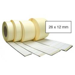 Etiketa bez potisku 26 x 12 mm