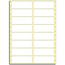 Tabelační etikety 101,6 x 36,5 mm, 2 řady