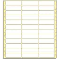 Tabelační etikety 89 x 23,8 mm, 3 řady