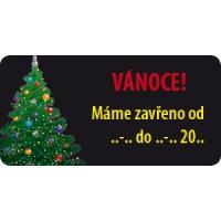 "Etiketa 40x20 mm ""Vánoce"""