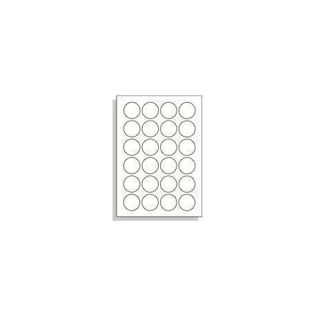 Samolepící etikety A4 40 mm kruh