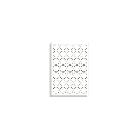 Tištěné samolepící etikety A4 35 mm kruh