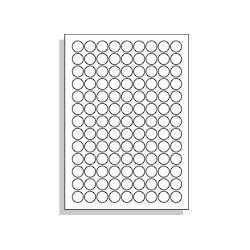 Samolepící etikety A4 19 mm kruh