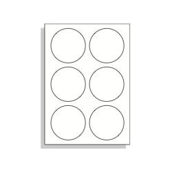 Samolepící etikety A4 85 mm kruh