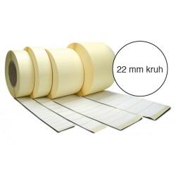 Etiketa bez potisku 22 mm kruh