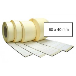 Etiketa bez potisku 80 x 40 mm
