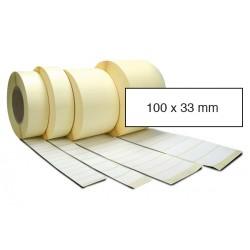 Etiketa bez potisku 100 x 33 mm