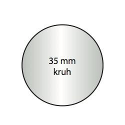 Transparentní etiketa 35 mm kruh
