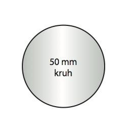 Transparentní etiketa 50 mm kruh