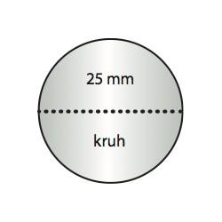 Transparentní etiketa 25 mm kruh s perforací