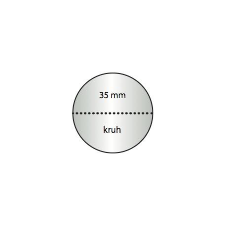Transparentní etiketa 35 mm kruh s perforací