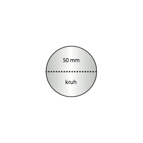 Transparentní etiketa 50 mm kruh s perforací