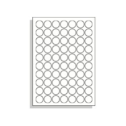 Samolepící etikety A4 25 mm kruh