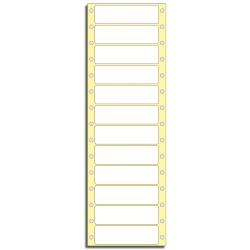 Tabelační etikety 81 x 23,5 mm, 1 řada