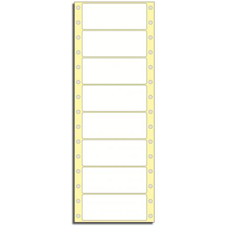 Tabelační etikety 89 x 36 mm, 1 řada