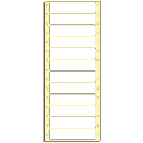 Tabelační etikety 101,6 x 23,8 mm, 1 řada