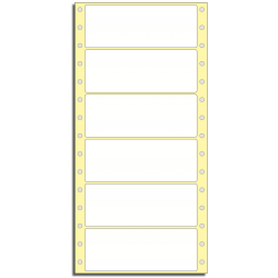 Tabelační etikety 127 x 48,8 mm, 1 řada