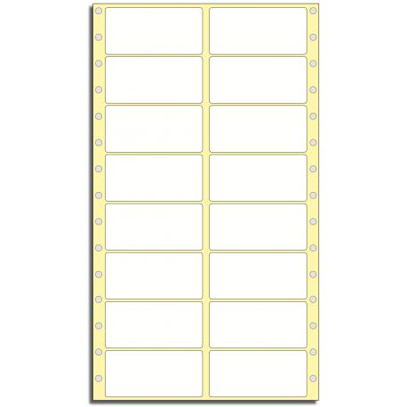 Tabelační etikety 76 x 36,5 mm, 2 řady