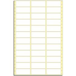 Tabelační etikety 89 x 36 mm, 3 řady