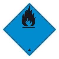 Nebezpečí vyvíjení hořl. plynu při styku s vodou 4.3