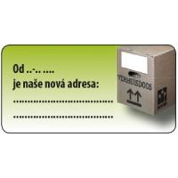 """Etiketa 40x20 mm """"Nová adresa"""""""
