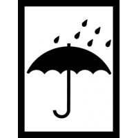 Výstražná etiketa - Deštník 74 x 100 mm