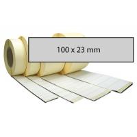 Výprodej - Etiketa bez potisku 100 x 23 mm stříbrná
