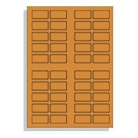 Samolepící etikety A4 40x20 mm, fluorescentní oranžová